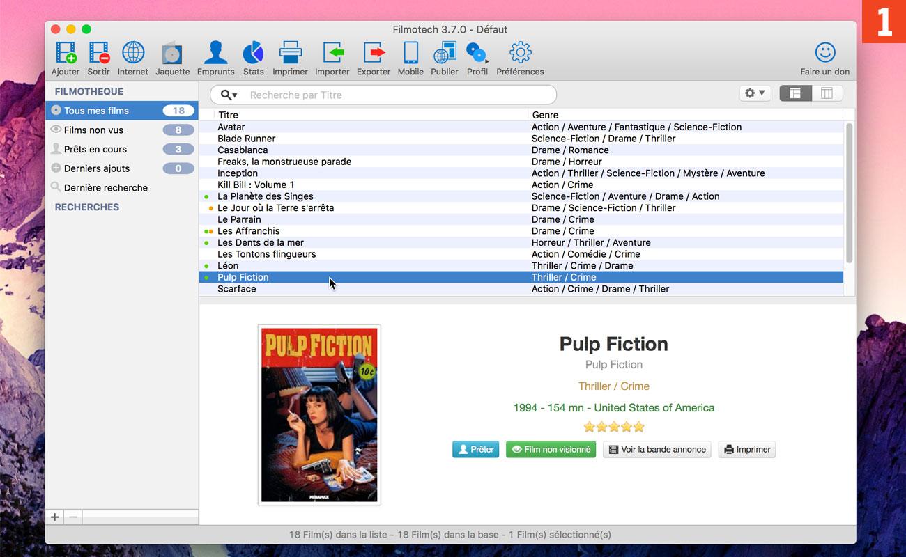 [Vidéos] Gérez votre base de films préférés et DVD