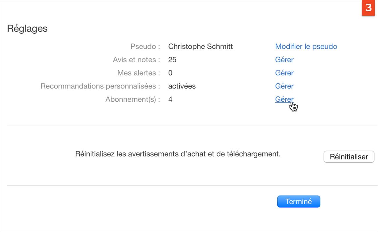 [macOS et iOS] Modifiez ou annulez un abonnement à une application ou un service