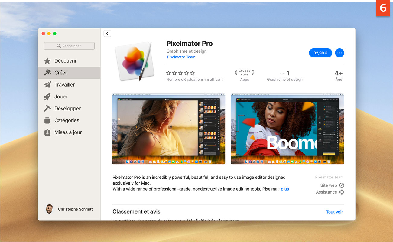 [macOS Mojave] Téléchargez et installez des logiciels depuis l'App Store