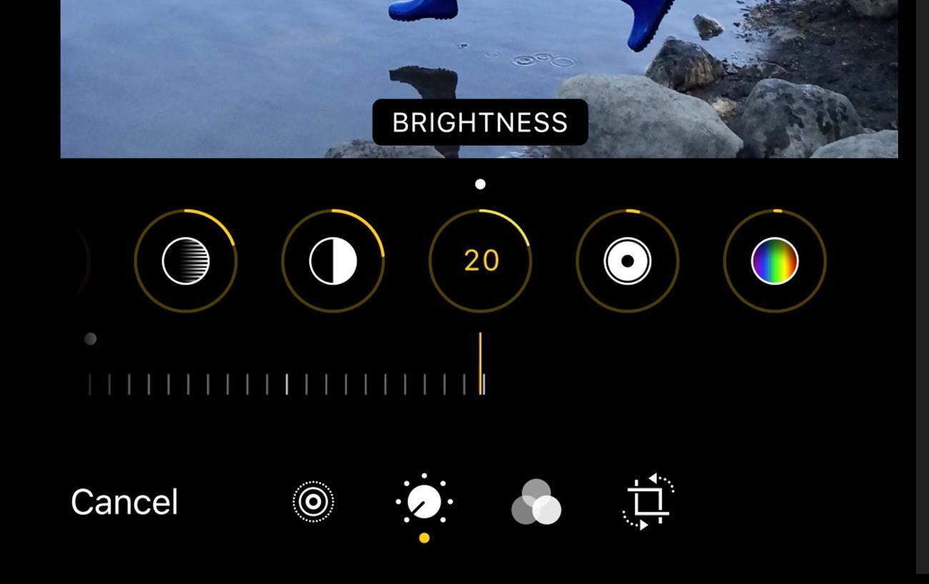 L'interface d'édition de Photos dans iOS 13