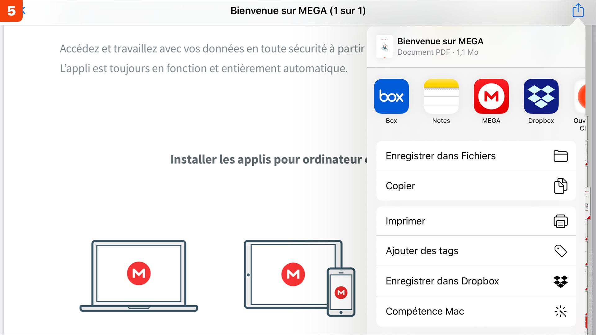 iOS • Ajouter un service de stockage externe dans l'app Fichiers
