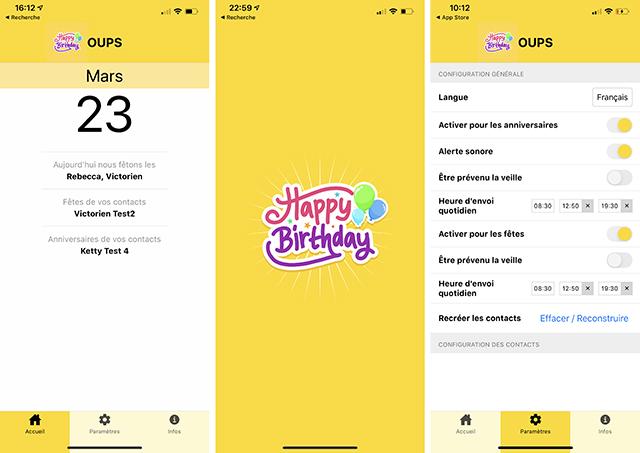 iPhone • N'oubliez plus anniversaires et fêtes de vos proches grâce à l'application Oups