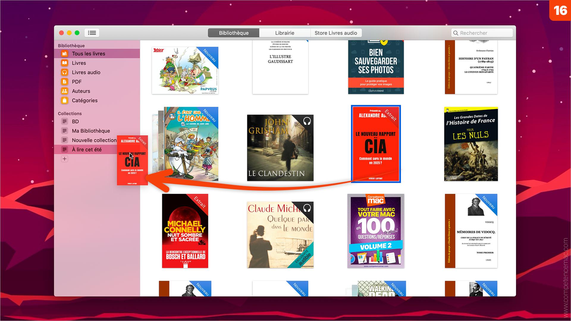Livres • Organisez la bibliothèque sur votre Mac