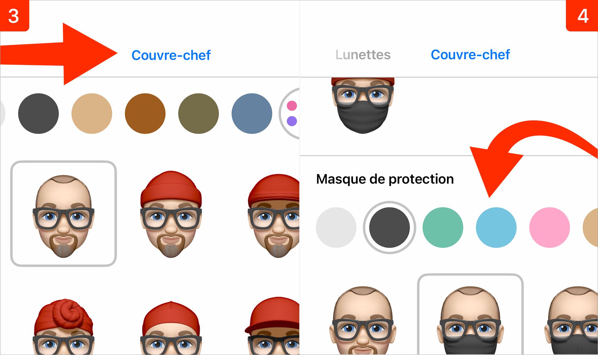 iOS 14 • Ajoutez un masque de protection à votre Memoji