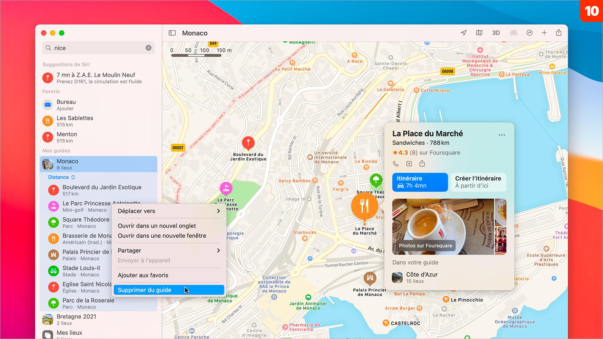 macOS 11 • Créer un guide touristique personnel avec Plans