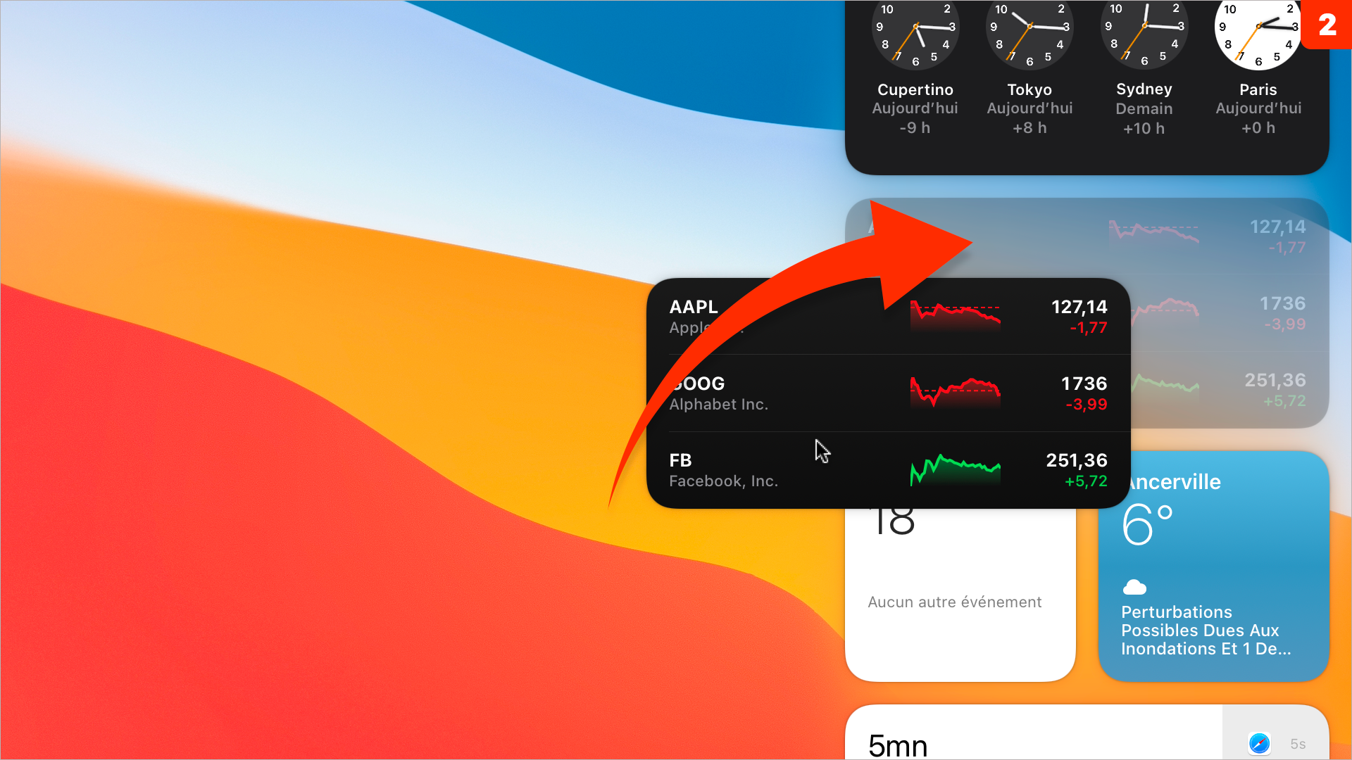 macOS 11 • Ajouter, modifier ou supprimer un widget