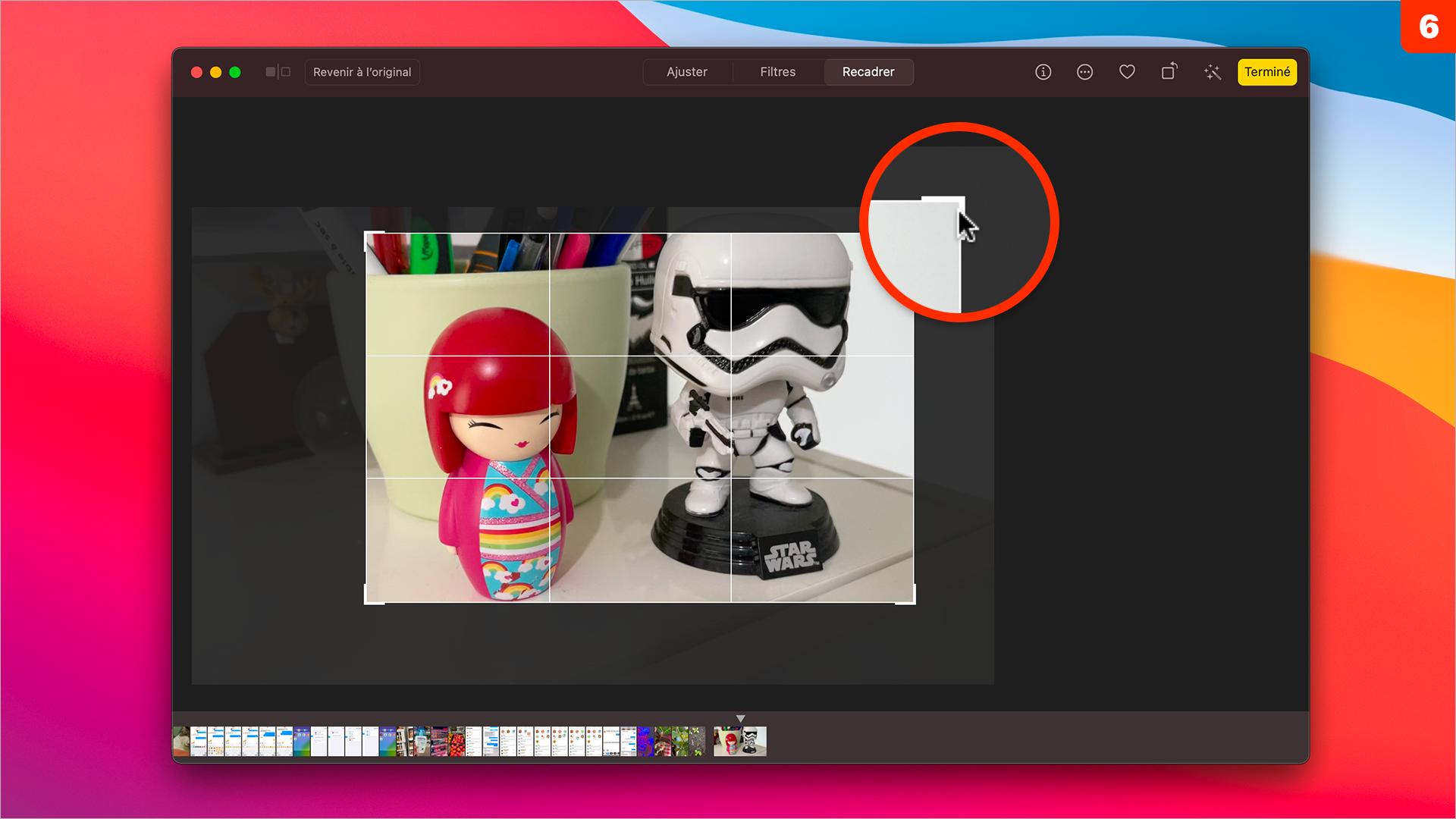 macOS 11 • Retoucher et recadrer une vidéo depuis Photos