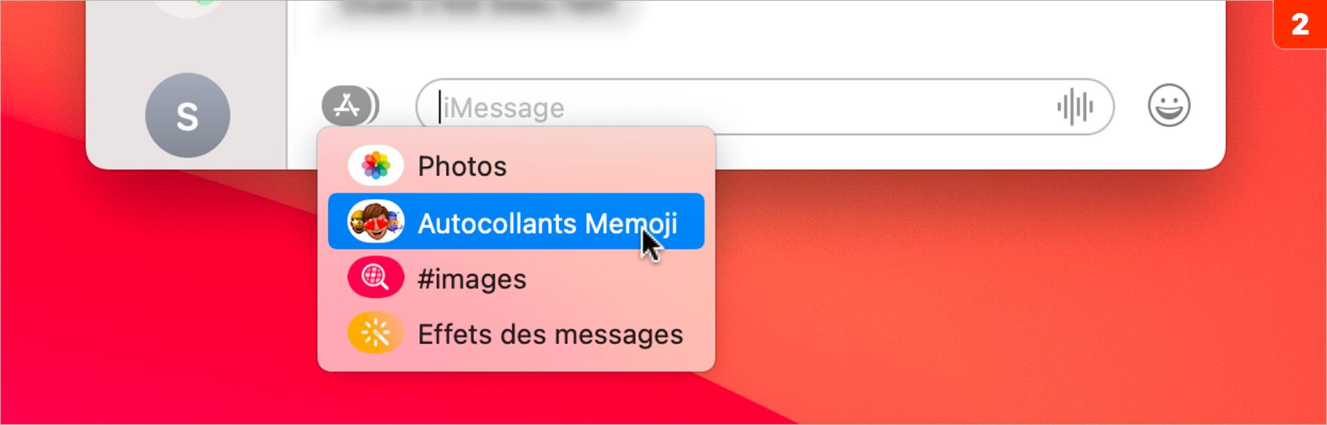 macOS •Créer un memoji depuis l'application Messages