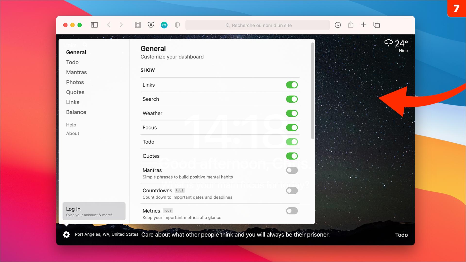 macOS •Personnalisez la page d'accueil de Safari avec un outil gratuit