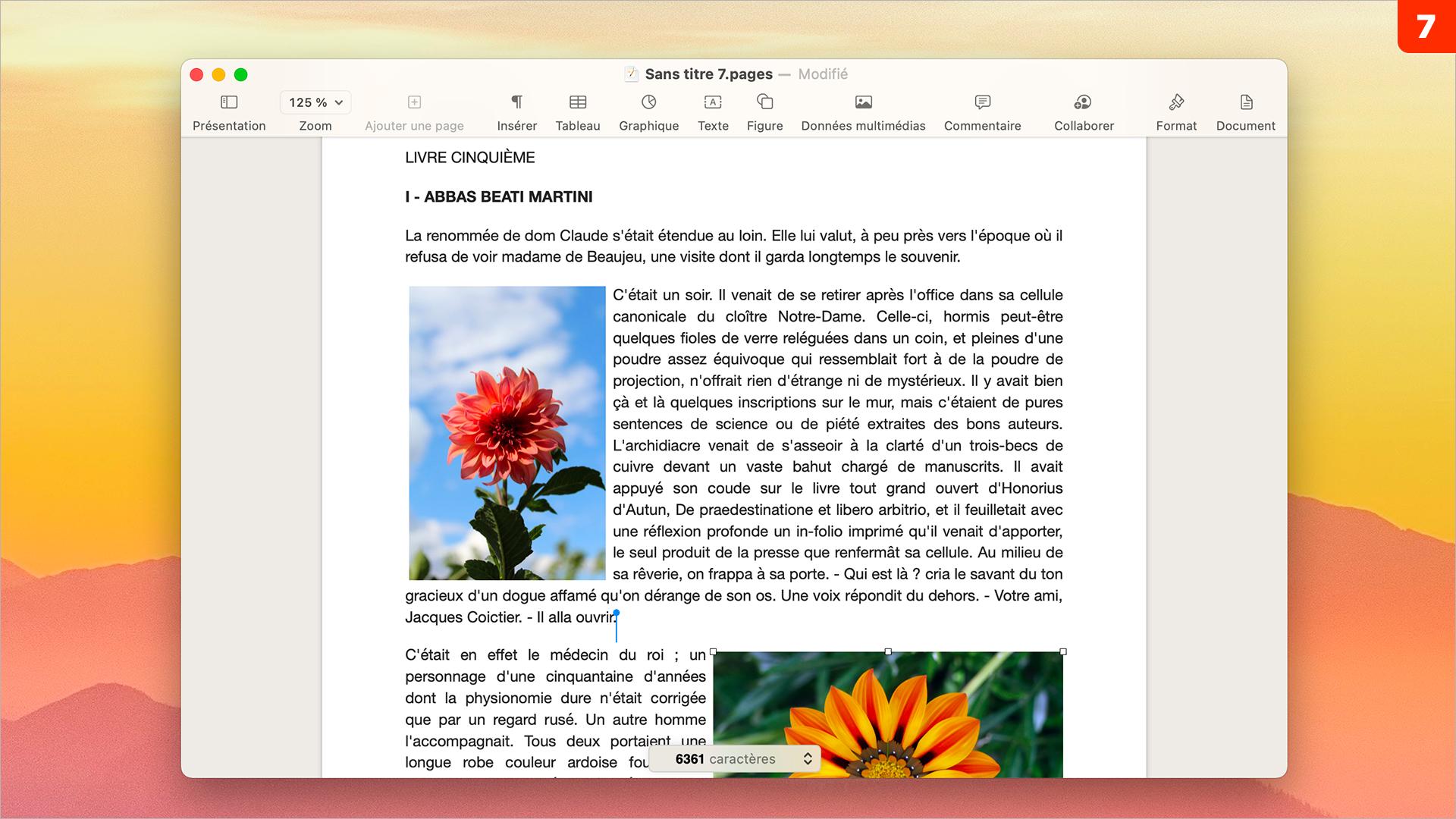 Pages • Intégrez une photo en l'habillant avec un texte