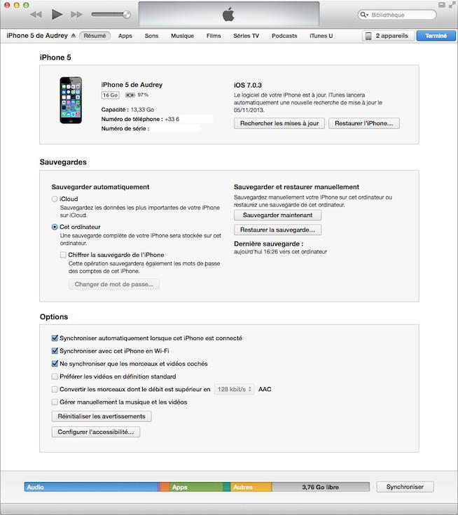 iTunes sous OS X Mavericks : l'onglet Infos a disparu !