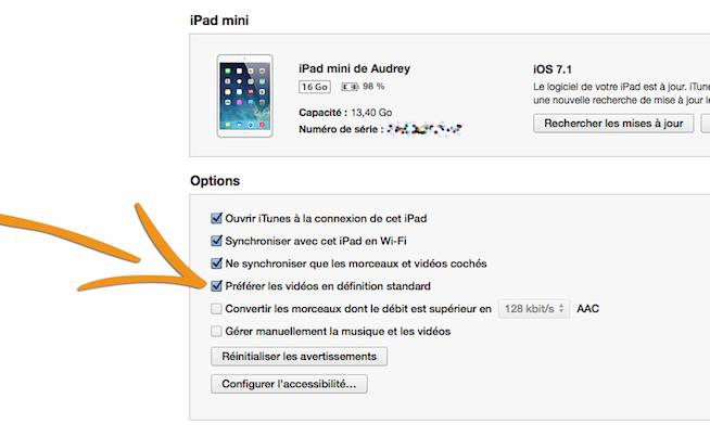 ipad    iphone   comment synchroniser la version sd d u0026 39 un