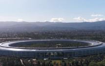 Apple Park vu d'un drone : le futuriste siège social d'Apple ouvrira en avril 2018