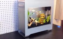 Un MacPro transformé en aquarium