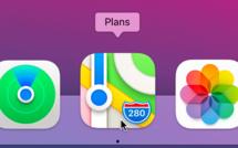 macOS 11 • Accéder rapidement à un itinéraire dans Plans